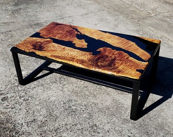 Epoxy Resin Coffee Table Butcher Block Free Shipping Us