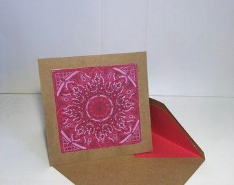 Pink Mandala Notecard