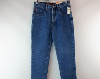 Vintage 1990s No Excuses Femme Fatale French Slim Fit Jeans Size 9 10  Medium Stonewash High Waist dd8ae1f3c6c