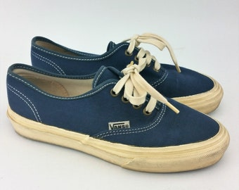 e28a9eb834e5 Vintage Navy Blue Vans- Made in the USA- Men s Size 6 1 2