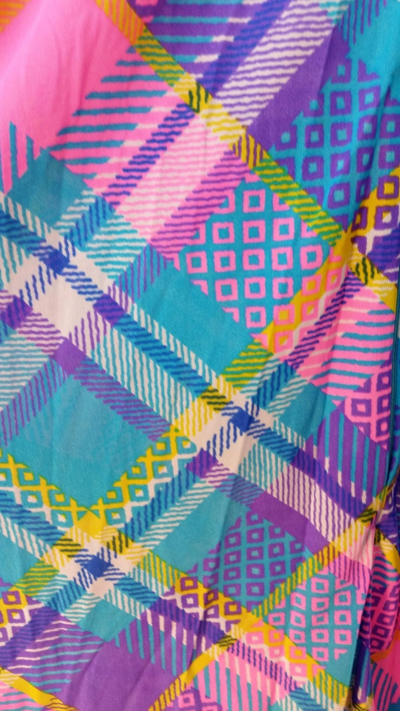 Vintage 60s Funky Patchwork Polyester Maxi Lounge… - image 4