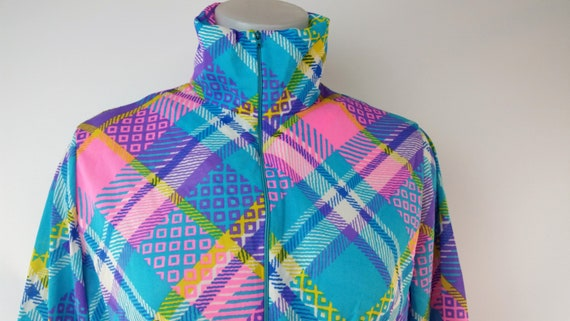 Vintage 60s Funky Patchwork Polyester Maxi Lounge… - image 3