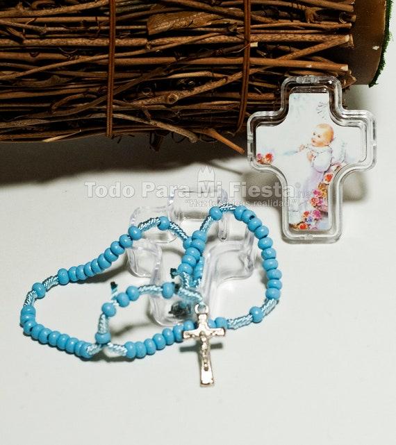 12pc BAPTISM FAVORS ROSARY GIFTS WHITE MI BAUTIZO ROSARIO RECUERDOS ANGEL LOT 12