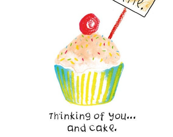 Cake Thinking of You Digital Card