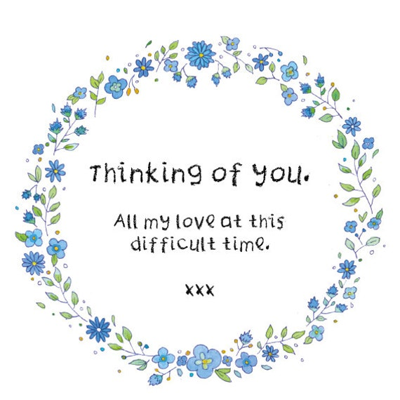 Thinking of You Flowers Digital Card