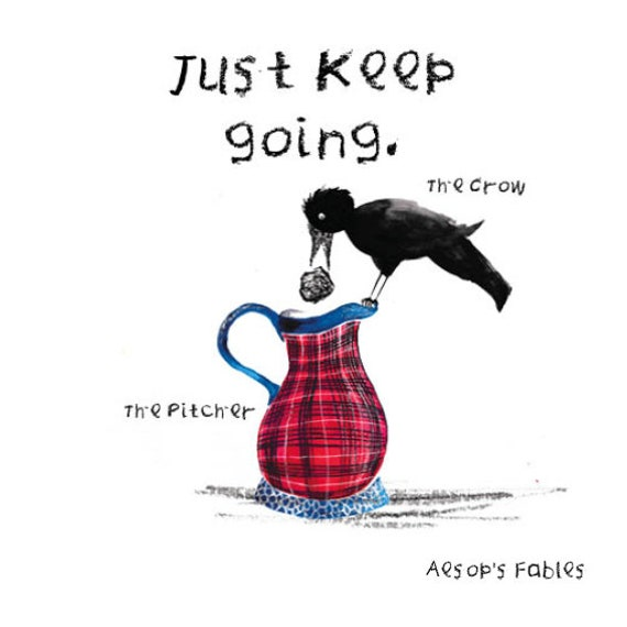Just Keep Going Card | Digital Card | Aesop's Fable | Thinking of you cards | Get well soon card | environmentally friendly | Sympathy card