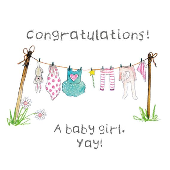 New Baby Girl Digital Card