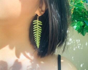 Fern Earrings in Ovals