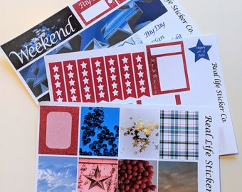 4th of July weekly planner sticker kit