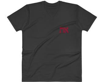 TRUTH: Modern Block Hebrew, V-Neck T-Shirt (dark colors)