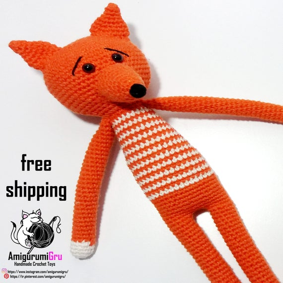 Amigurumi Fuchs Häkeln Spielzeug Für Babys Kuscheltier Etsy