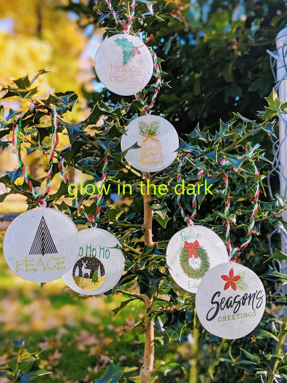 Resin Christmas Ornaments.Glow In The Dark Christmas Ornaments Christmas Ornaments Handmade Holiday Decor Christmas Gifts Resin Christmas Decor Winter Decorations