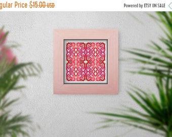 WELCOME SUMMER SALE X and O Hugs and Kisses Valentine Candy Heart Graphic Tile Limited Edition Art Print