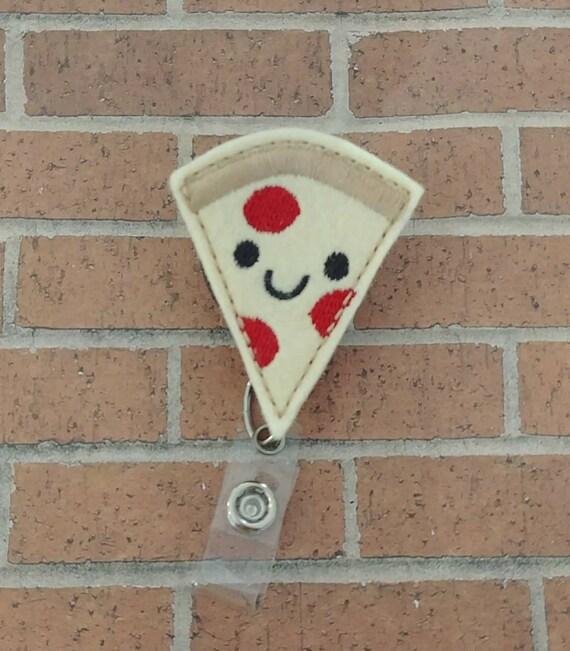 Pizza Food Lanyard Badge ID Keychain Holder Nurse Doctor Teacher Design 4