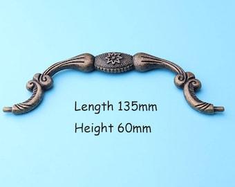 13.5cm Box drawer hardware, Vintage box Handle Chest handles Box handles metal handles 135*60mm  TS12