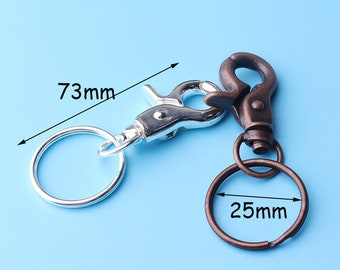 steel claw key fob accessory Lobster clasp add-on for keychain clasp for keyring rear view mirror clip attachment