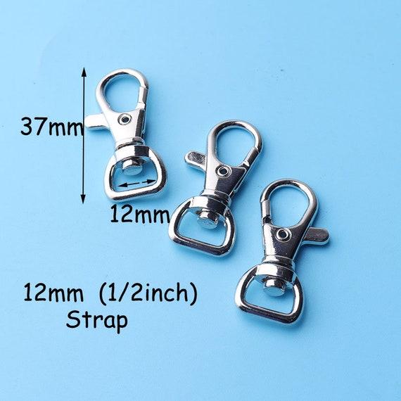 10Pcs//Set Silver Metal Lanyard Hook Swivel Snap Hooks Key Chain Clasp Clips ZJP