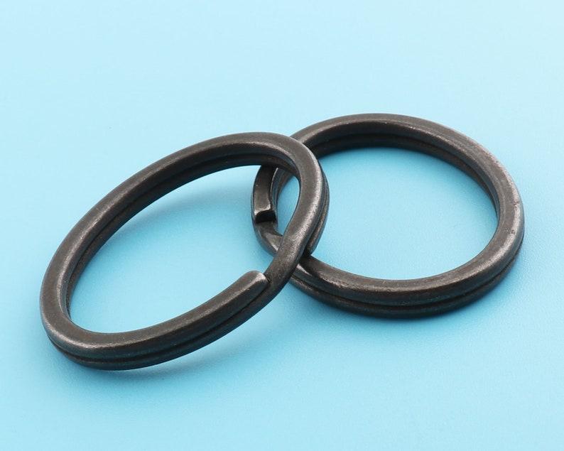 oval key split rings key ring metal oval rings o ring,Key Chain Connector with black,37*28mm Metal Loops