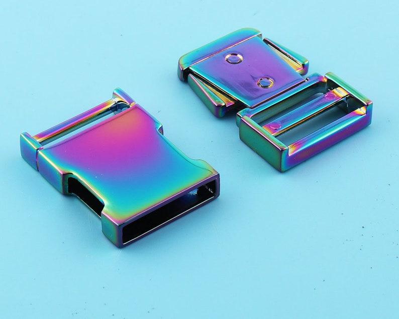 2 pcs Rainbow Release Buckles strap adjuster Metal Buckle Adjuster buckle Hardware Supplies
