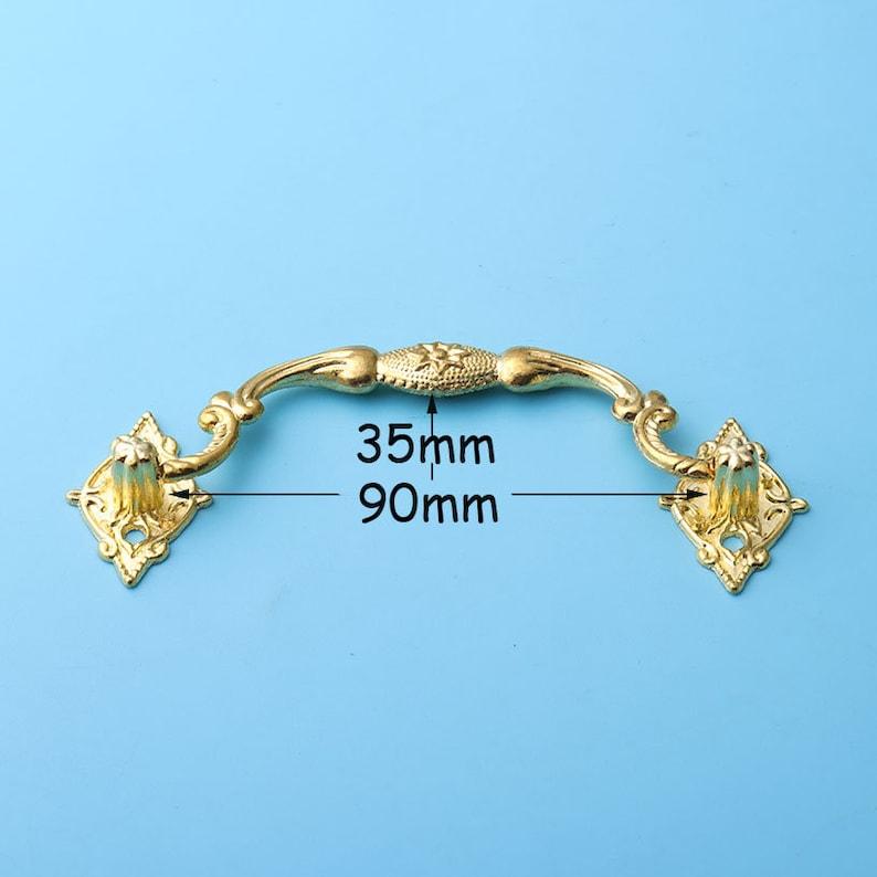 2pcs vintage classic Gold pull Ancient court style drop handles  Vintage Furniture Knobs Handle dresser drawer pulls handles