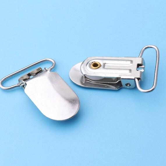 10er Metall runden Hosentr/äger Snap Schnuller Strap Halter f/ür DIY machen Leder Handwerk Schnuller Clips Schwarz