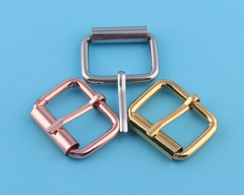25mm rose gold Adjustable Belt Buckle Slide bar Buckles,Metal Purse clasp Buckles,Bag strap buckle Buckle Handbag webbing hardware 1