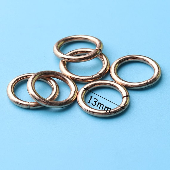 Colorful O-Ring for Bag,Crafts Supplies,Metal rings,Silver Oval rings,Purse strap rings,Purse ring,O rings,Spring clasp,Round ring-1 14/'/'