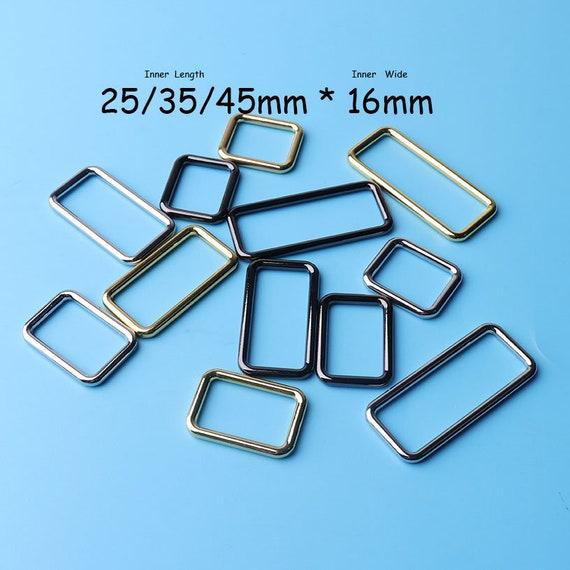 38mm 1 1//2/'/' Heavy Loop SQUARE Ring Metal Wire formed Handbag webbing Buckle