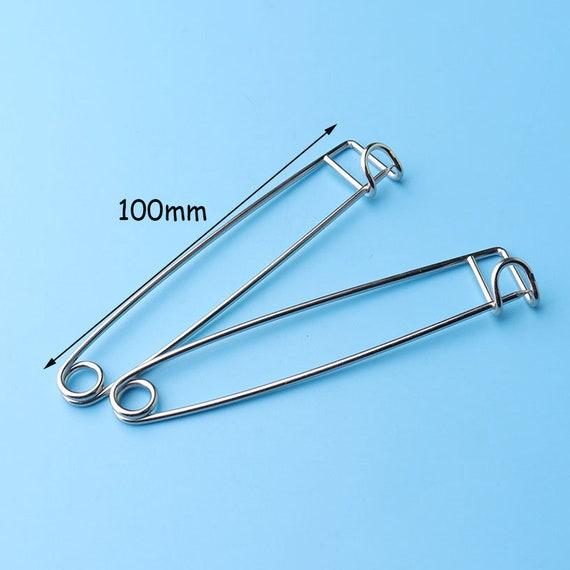 Large Gold Safety Pins 6pcs 10cm Shawl Pins shawl pins Metal Pins Brooch Pins Laundry Pins Kilt Pin Back Jumbo Horse Blanket Pins