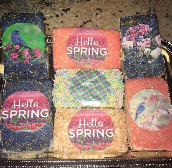 Spring custom photos cookies