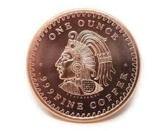 """/""""Statue of Liberty/"""" body Copper 1oz .999 Fine Copper Beautiful Round"""