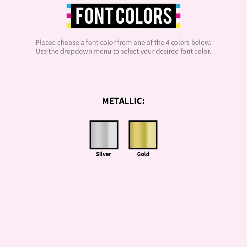 W O M E N S | METALLIC Gold Silver Font - Women's Custom Shirts Gold Silver  Foil Text Personalized T-Shirt - Custom Bachelorette Shirts