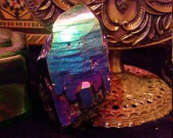 Titanium/Rainbow quartz points medium and large