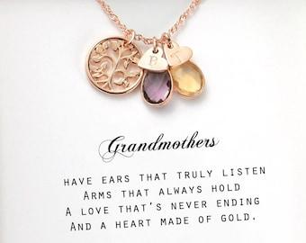 Grandmother necklace Inspirational jewelry Mother Daughter Grandmother GRANDMOTHER of the Bride Keepsake necklace Mothers necklace