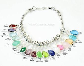 Grandma Gift  Gifts for Grandma Birthstone Charm Bracelet /Necklace  Grandmother Gift Grandmother Necklace Grandma Gift from Grandchildren