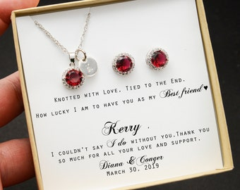 Ruby necklace Ruby pendant .Graduation gift .Prom.Wedding jewellery Bridesmaids,gift for her.Silver jewellery .Gift idea