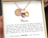 Grandma gift,Personalized gift Gifts Nana Necklace,Nana Jewelry, birthstone bracelet,birthstone necklace,Mothers Christmas gift for her