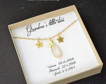 Grandma Gift  Gifts for Grandma Birthstone Charm Necklace  Grandmother Gift Grandmother Necklace Grandma Gift from Grandchildren