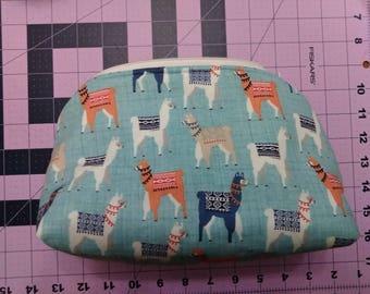 Colorful Llamas Zipper Bag
