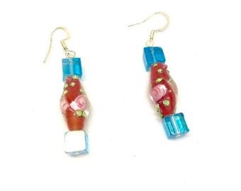 Rose Tube Earrings