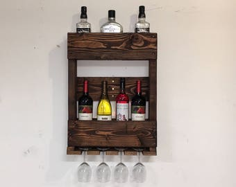 Wine Rack made from Reclaimed Pallet
