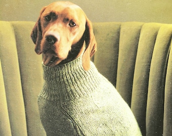 Dog Cable Coat  - All Sizes, Knitting Pattern
