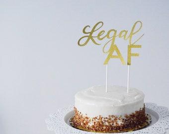 Legal AF Cake Topper