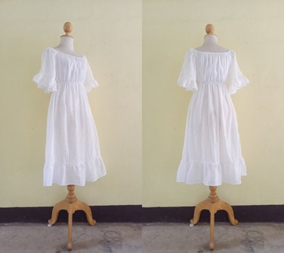 Free shipping !! Baby Doll Dress Bell sleeve dress maxi dress Boho Casual  dress Hand-made Made to order Loose dress Plus Size SX-5XL