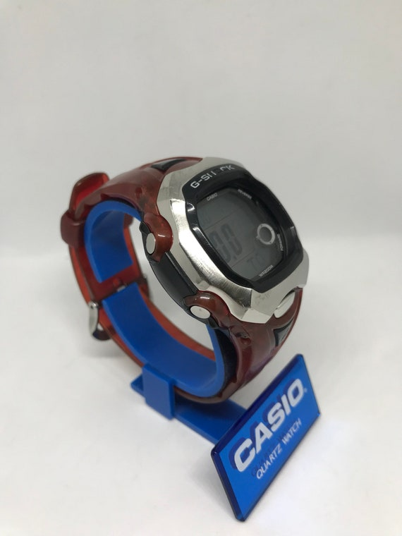 Casio G Shock GL 150 2463 Red Rare Watch 200M WR Vintage Moon Age G Lide