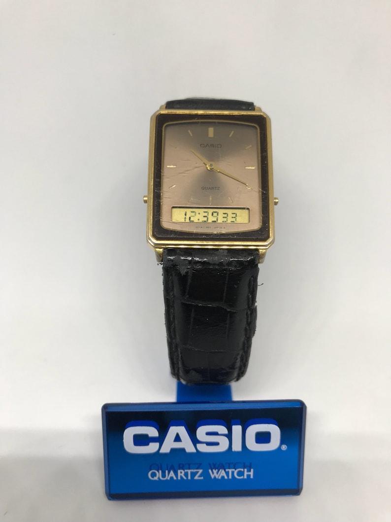 Aq Japón Raro Reloj Analógico Digital 306 709 Casio Vintage clJTFK1