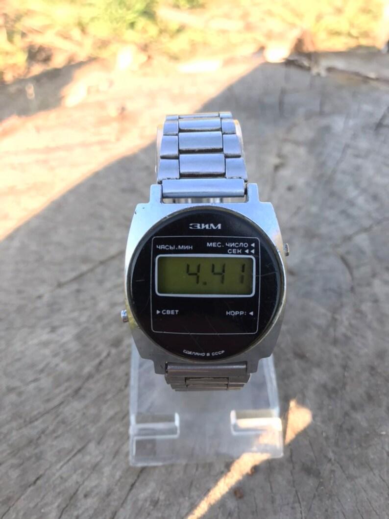 e179d4b53832 Vintage Soviet Very Rare Digital Watch ZIM ЗИМ Works Good