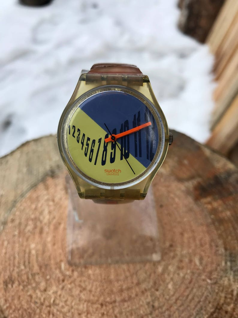Just Vintage Watch Communication Quartz Lady Swatch Swiss Rare Like OXkiuPZ