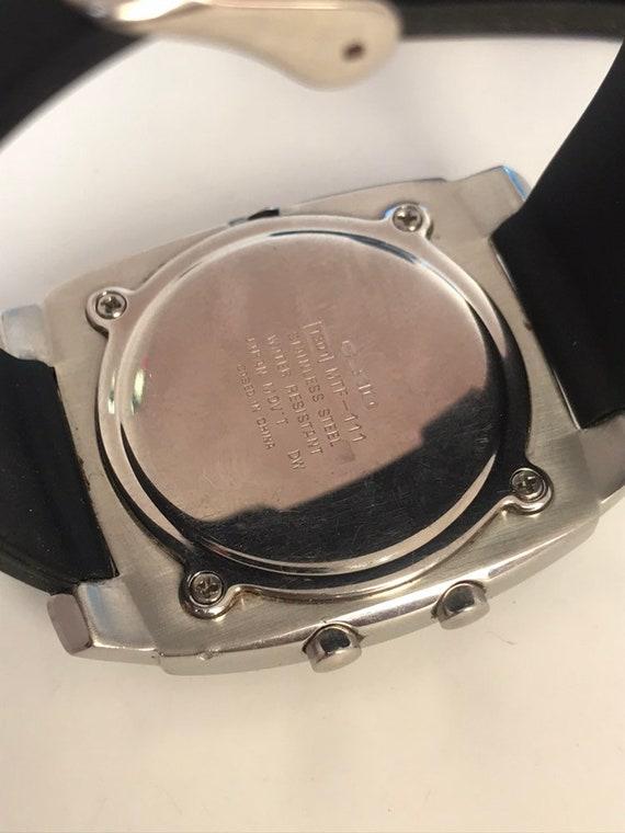 Casio Hommes MTF 111 Module 1301 Quartz Old Retro Alarm  OeCQx