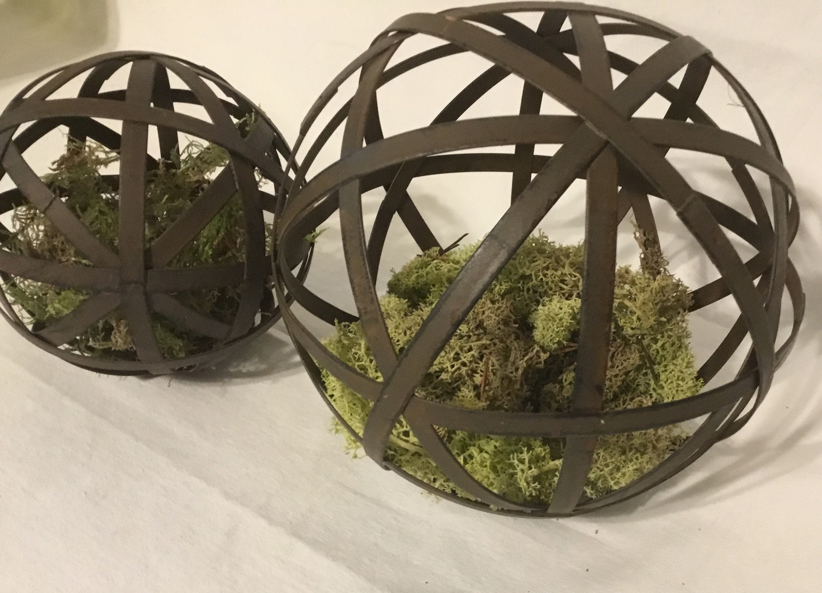 Metal Sphere Metal Orb Farmhouse Home Decor Farmhouse | Etsy